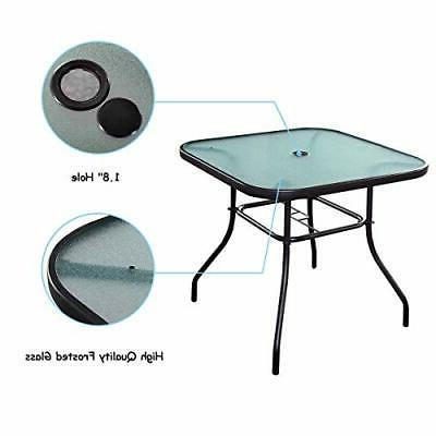 Patio with Hole Square Tables Small