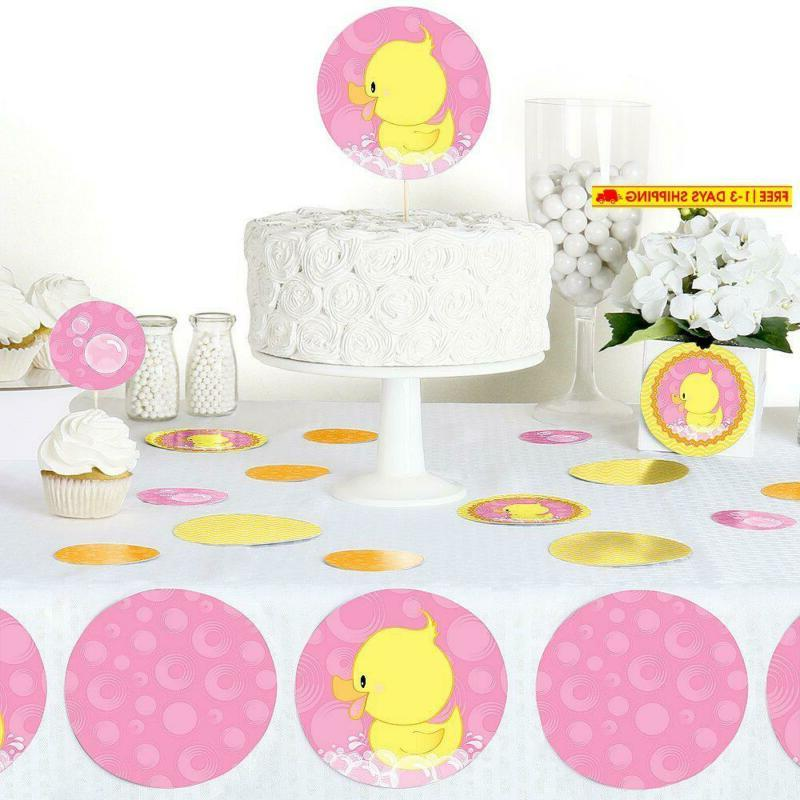 Big Dot Happiness Pink Ducky Birthday Party