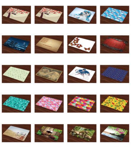 place mats set of 4 washable fabric