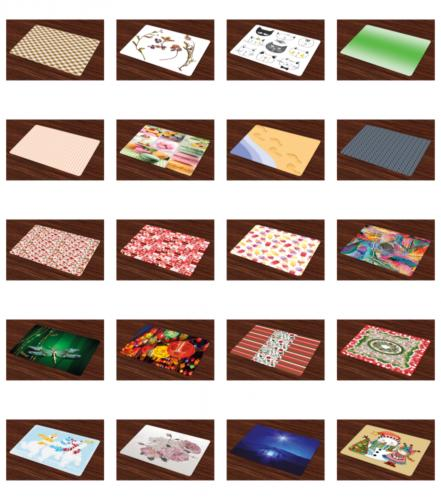 Ambesonne Place Mats of 4 Fabric Placemats Table