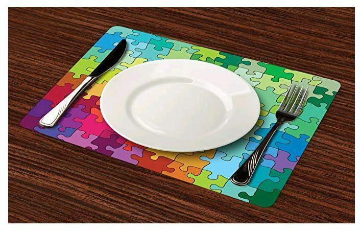 Placemat Dining 4 Washable