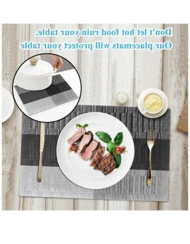 Placemats Dining Washable Heat-Resistant