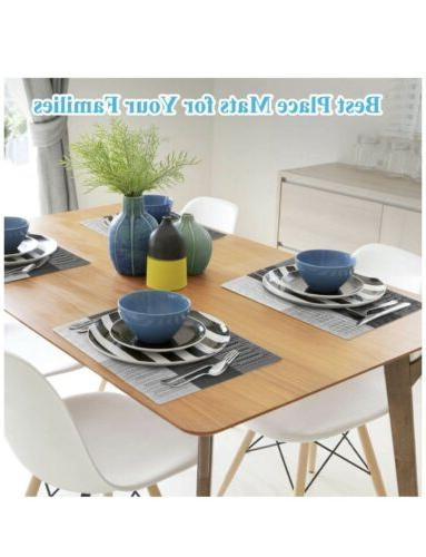 Placemats Washable Heat-Resistant Table