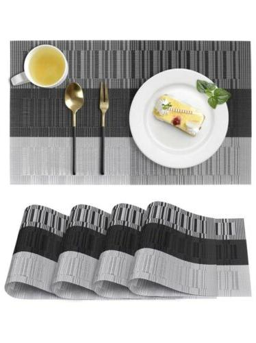 placemats for dining table washable heat resistant