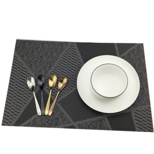 Placemats Set Heat Insulation Stain Resistant Placemat for Dining