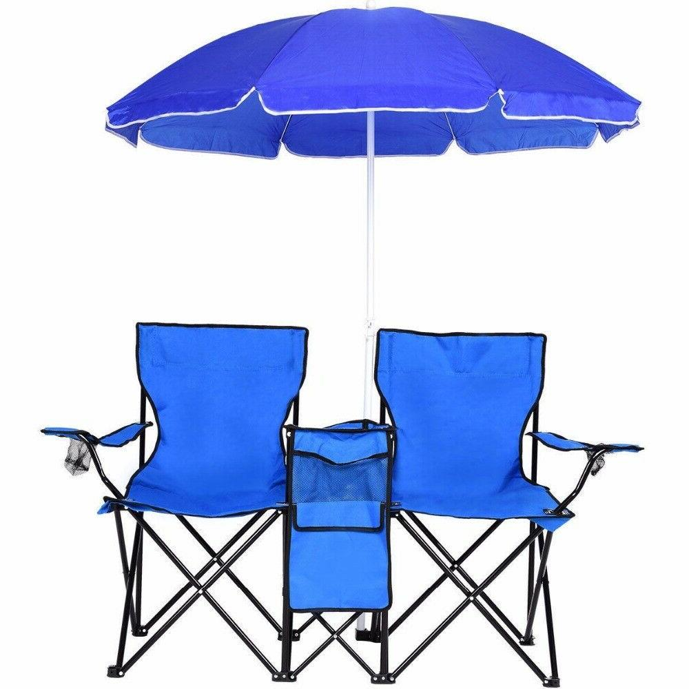 Double Chair W/Umbrella Table Outdoor