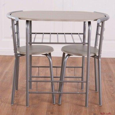 Pub Piece Chairs Metal Frame Bistro Giantex