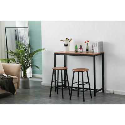Pub Table Set 3 Piece Bar Stools Kitchen Furniture