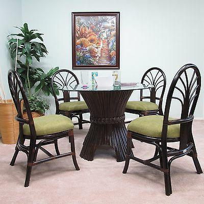 rattan dining set 5 pieces 4 chairs