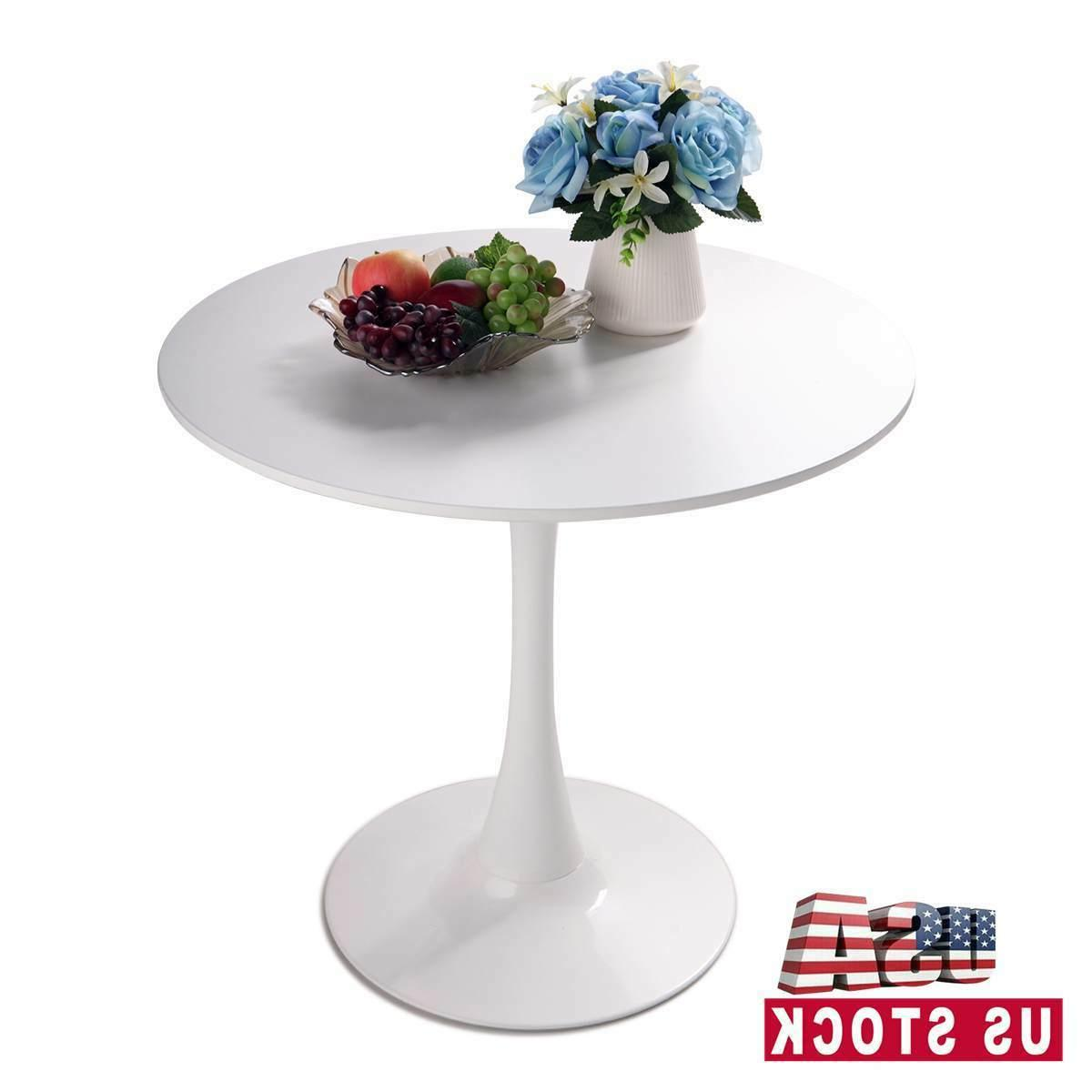 round pedestal table in white tulip design