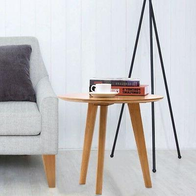 Round Table Table Wood Coffee Table Mini
