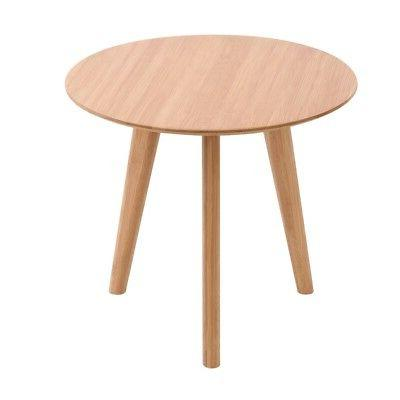 Round Side End Table Wood Table Living