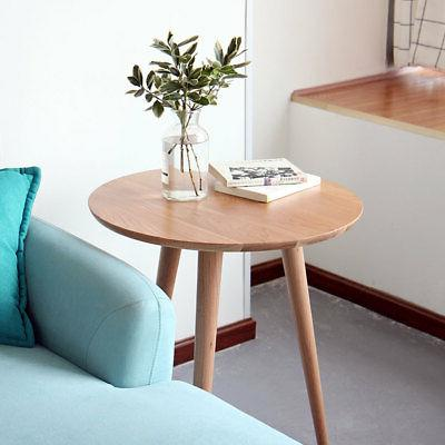 round side table end table wood coffee