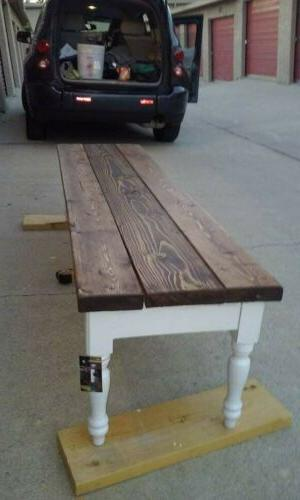 """Rustic Dining - 60"""" - LengthBench"""