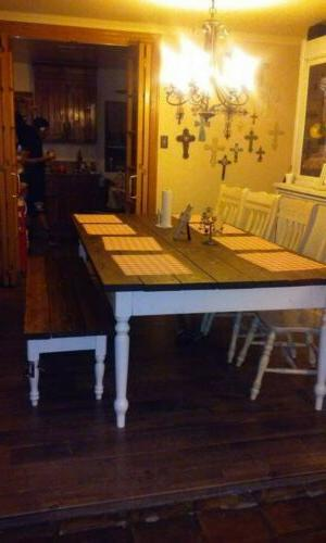 """Rustic Dining Table 60"""" LengthBench 72 inches"""