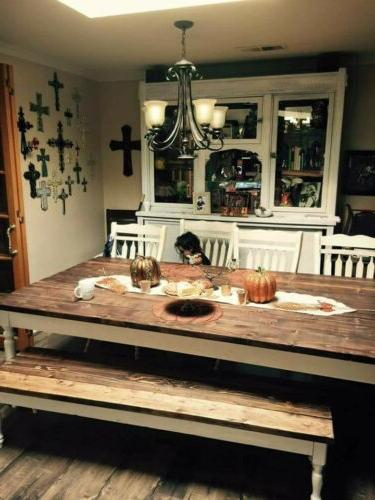 rustic dining table 60 96 lengthbench 72