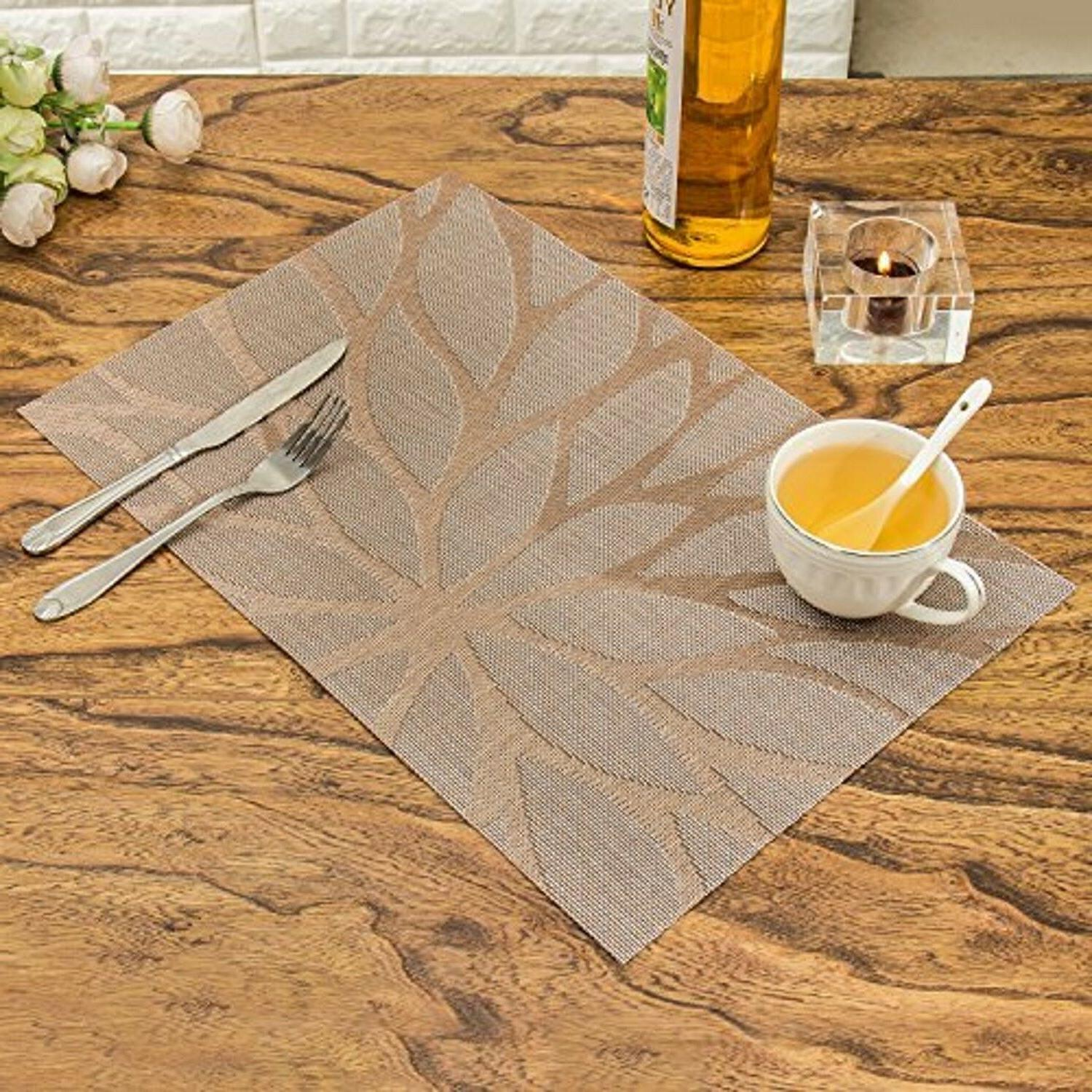 Set of Kitchen Dining Table Heat Woven