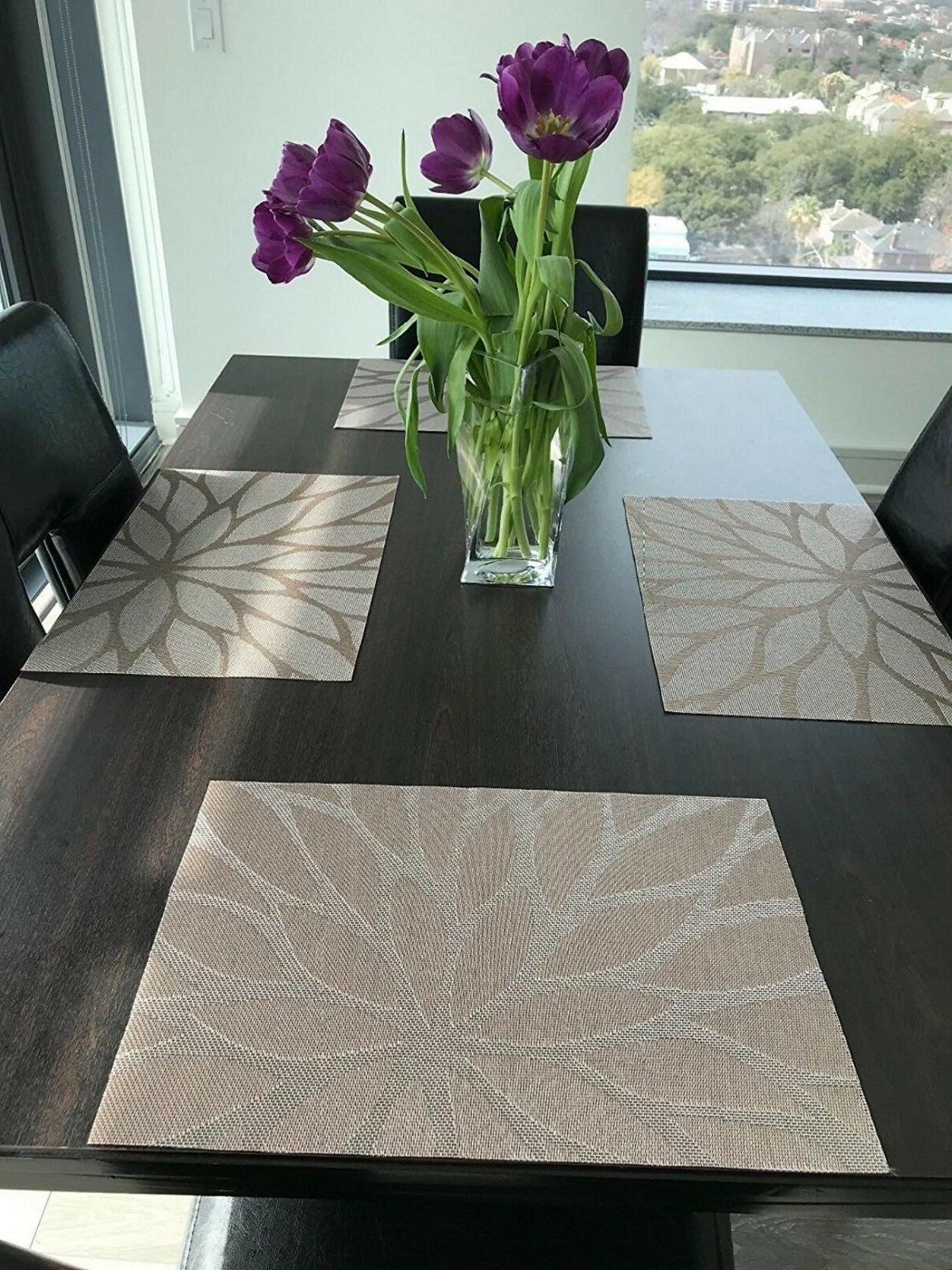 Set of 6 Dining Placemats Woven