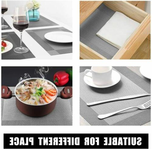 Set of 4 Placemats Dining Table Mats