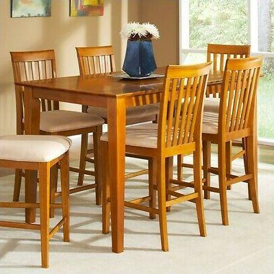 shaker counter height pub dining table in