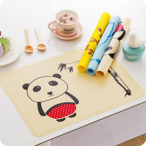 Silicone Placemats for Kids,Waterproof Heat Resistant Kitche