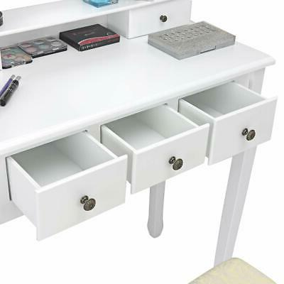 Vanity with and Table Makeup Dressing Desk
