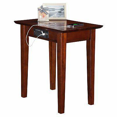 Atlantic Furniture Side Table Charging Station