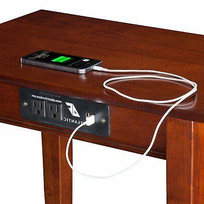 Atlantic Furniture Vienna Chair Side Table Station