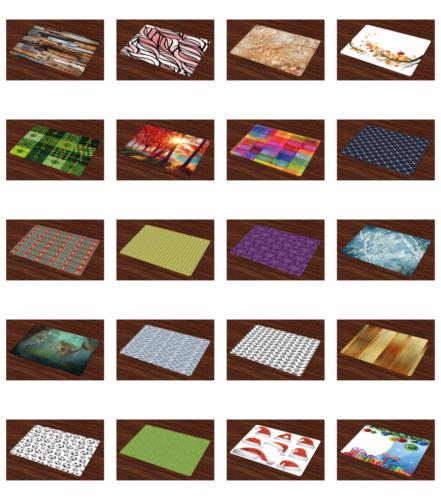 Washable Mats for Dining Ambesonne