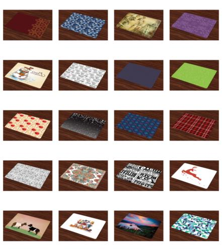 Washable Placemats Place Mats of 4 for Dining