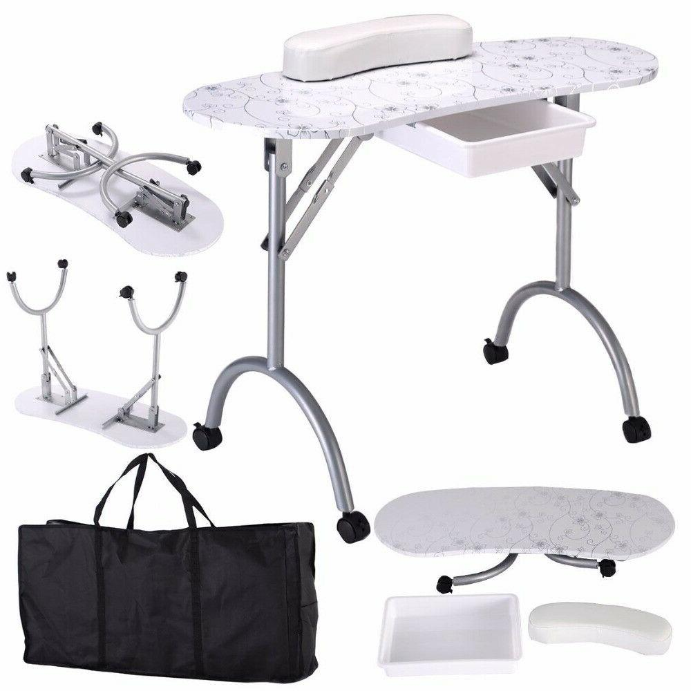 Giantex Manicure Table Portable