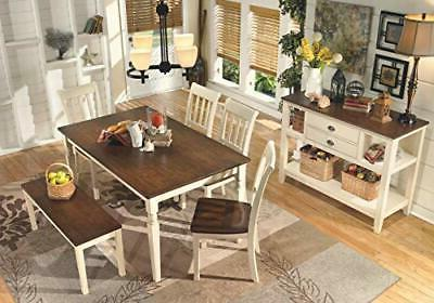 Signature by Whitesburg Dining Brown/Cottage White