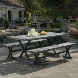 Lavelle Grey Magnesium Oxide Dining Table