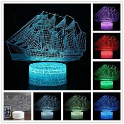 LED 3D Night Lights for Kids USB Touch Control Table Illusio