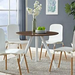 "Modway Lippa 36"" Round Wood Top Dining Table with Tripod Bas"