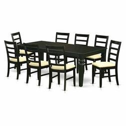 East West Furniture Logan 9 Piece Shaker Dining Table Set