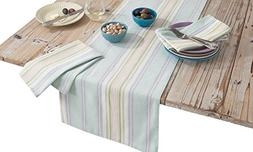 HomeCrate Luxurious French Perle Stripe Collection Table Run