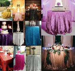 Luxury Round Sequin Tablecloths Table Cloth Cover Wedding Ev