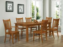 marbrisa mission style 7pc casual dining set