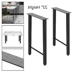 """Metal Table Legs Dining Table Legs 22"""" Height Trapezoid Shap"""