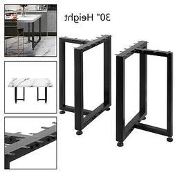 "Metal Table Legs Dining Table Legs 30x29"" T-Shape Desk Legs"