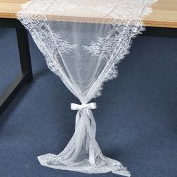 Minimalist Table Runner white Wedding Bridal French Chic Sho