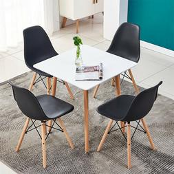 Modern 5 Piece Dining Table Sets 4Pcs Chairs Wooden Legs Kit