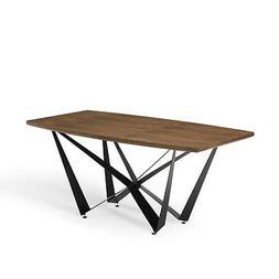 Modern Parallax Dining Table - Walnut