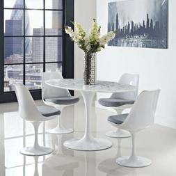 "Modway Lippa Mid-Century Modern Marbled 60"" Oval Dining Tabl"