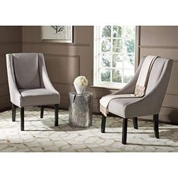 Morris Sloping Wooden Arm Dining Chair with Nailhead Set of