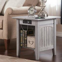 Atlantic Furniture Nantucket End Table with Charger