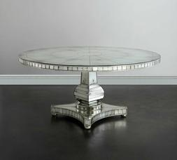 new 66 round mirror glass dining room