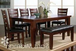 NEW! Barlow Dining Room Furniture 9 piece Set , Table w/leaf