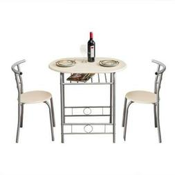 Hot 3 PCS Dining Set Table 2 Chairs Home Kitchen Breakfast F